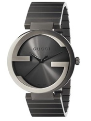 Gucci Interlocking G Grey Pvd Watch Anthracite