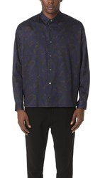 Robert Geller The Camo Photographer Shirt Navy Grey