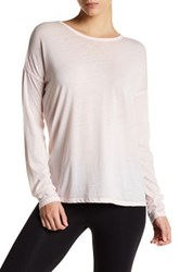 Betsey Johnson Strappy Back Long Sleeve Tee Pink