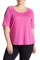 The Balance Collection Elbow Length Sleeve Retreat Tee Plus Size Pink