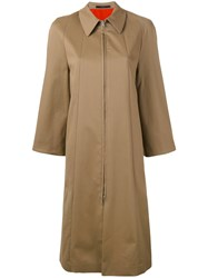 Paul Smith Single Breasted Coat Women Cotton Spandex Elastane 42 Nude Neutrals