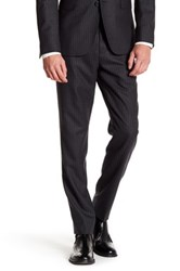 Brooks Brothers Charcoal Pinstripe Wool Pant Gray
