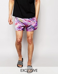 Reclaimed Vintage Mini Shorts Purple