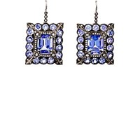 Cathy Waterman Mixed Gemstone Square Drop Earrings White
