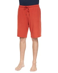 Derek Rose Basel Jersey Lounge Shorts Paprika Red