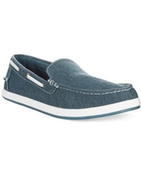 Tommy Hilfiger Irving Canvas Slip Ons Men's Shoes Navy
