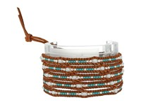 Chan Luu 32' Freshwater Pearl Wrap Bracelet With Seed Beads And Sterling Silver Accents Turquoise Mix Bracelet Blue