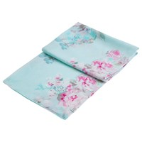 Joules Wensley Floral Blossom Scarf Sky Blue Pink