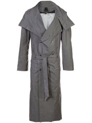 Y Project Technical Trench Coat Polyamide Polyester Polyurethane Grey