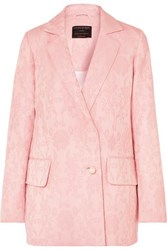 Mother Of Pearl Net Sustain Francis Organic Cotton And Wool Blend Floral Jacquard Blazer Pastel Pink