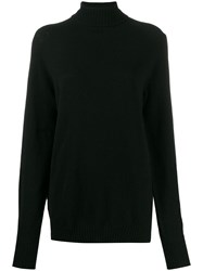 Ma'ry'ya Longline Knitted Jumper Black