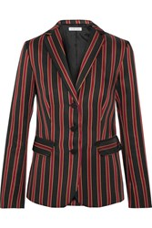 Tomas Maier Striped Satin Twill Blazer Black