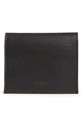 Men's Shinola Gusset Leather Card Case Black