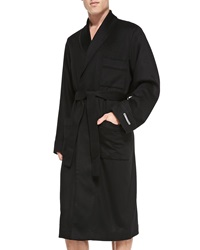 Neiman Marcus Cashmere Belted Robe Black