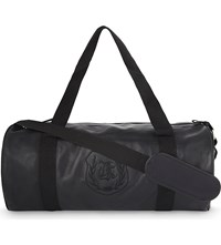 The Kooples Embroidered Leather Sports Bag Black