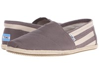 Toms University Classics Dark Grey Stripe Men's Shoes Gray