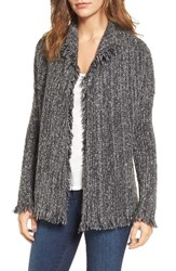 Velvet By Graham And Spencer Women's Melange Knit Cardigan Medium Heather Grey