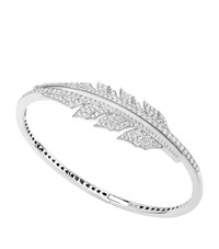 Stephen Webster Magnipheasant Pave Open Feather Bracelet Female Silver
