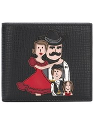 Dolce And Gabbana Cowboy Family Patch Wallet Black