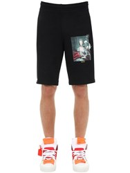 Off White Mariana De Silva Cotton Jersey Shorts Black