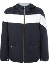 Moncler Gamme Bleu Hooded Two Tone Jacket Blue