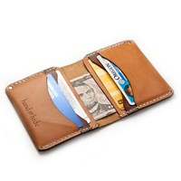 Hand And Hide Medium Leather Bi Fold Wallet