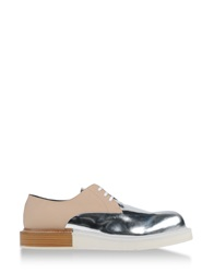 Mobi Lace Up Shoes Silver