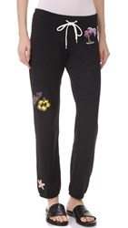 Monrow Vintage Sweatpants With Island Patches Black