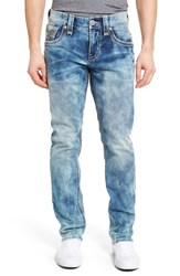 Rock Revival Men's Big And Tall Alternative Straight Leg Jeans Tidy Blue