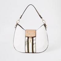 River Island White Lock Front Scoop Slouch Bag
