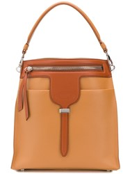 Tod's Zipped Bucket Bag Brown