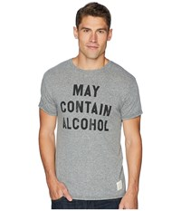 The Original Retro Brand May Contain Alcohol Vintage Tri Blend Tee Streaky Grey T Shirt Pewter