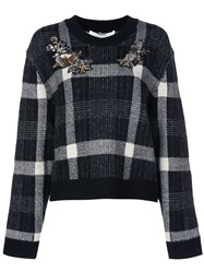 Veronica Beard Bead Embellished Jumper Black