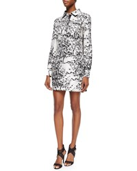 Diane Von Furstenberg Toile Solid Long Sleeve Dress Women's Toile Meadow Whit