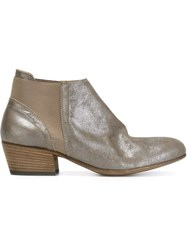 Pantanetti Panelled Ankle Boots Metallic