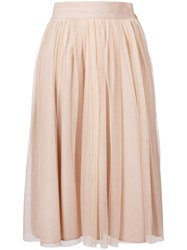 Roberto Collina Ruffled Mid Skirt Nude Neutrals