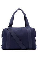 Dagne Dover Large Landon Neoprene Duffel Bag Blue Storm