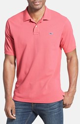 Vineyard Vines Men's 'Classic' Pique Knit Polo Jetty Red