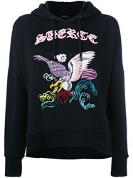 Marcelo Burlon County Of Milan Embroidered Hoodie Women Cotton Xs Black