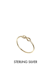 Asos Gold Plated Sterling Silver Infinity Ring
