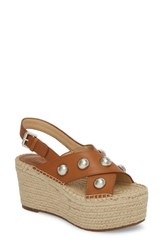 Marc Fisher 'S Ltd Rella Espadrille Platform Sandal Cognac Leather