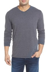 Men's Big And Tall Tommy Bahama 'Sedona Sands' V Neck Sweater Dk Charcoal