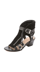 Iro Xinty Suede City Sandals Black