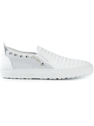 Philipp Plein Slip On Sneakers White