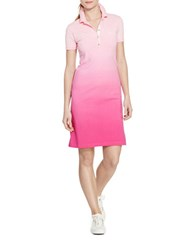 Lauren Active Ombre Polo Shirtdress Pink Multi