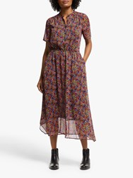 John Lewis Collection Weekend By Austin Painterly Floral Handkerchief Dress Black Multi