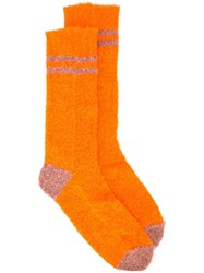 Rachel Comey Mid Calf Hockney Socks Orange