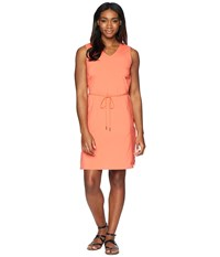 Jack Wolfskin Tioga Road Dress Hot Coral Red