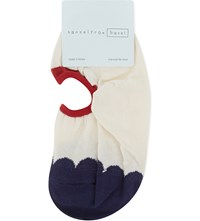 Hansel From Basel Boucle Scallop Liner Ankle Socks Ivory