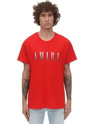 Amiri Print Dagger Cotton Jersey T Shirt Red